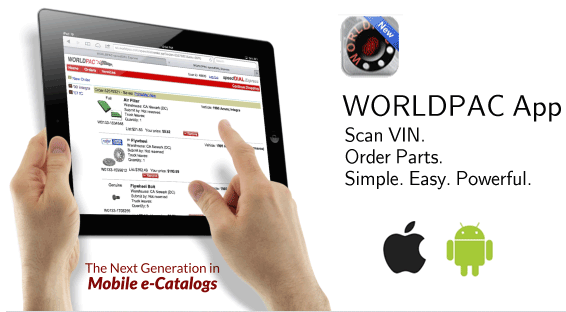 WORLDPAC App. Scan VIN. Order Parts. Simple. Easy. Powerful.